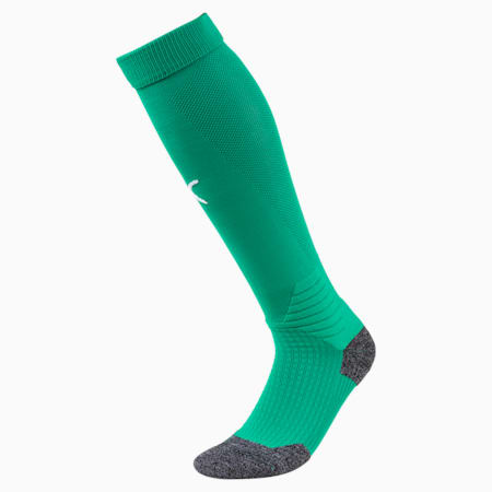 Calcetines para fútbol Liga [1 par], Pepper Green-Puma White, pequeño